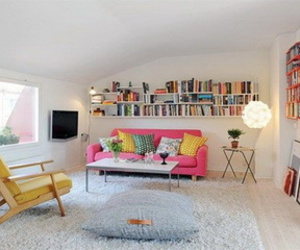 room, home, and pink image