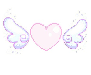 edit, wings, and heart image