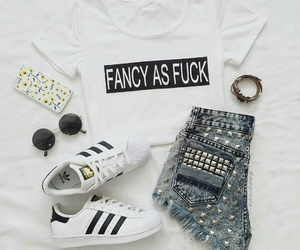 outfit, adidas, and fashion image