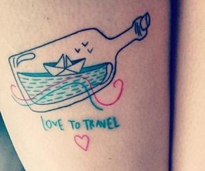 airplane, cool, and tatoo image