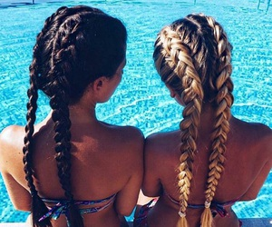 adorable, beauty, and braided hair image