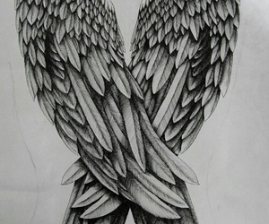wings and drawing image