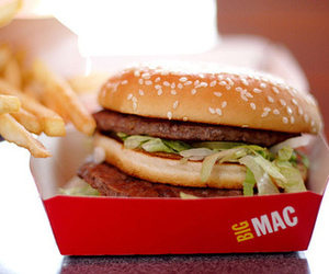 food, big mac, and burger image