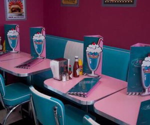 diner, pink, and retro image