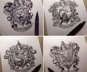 art, creative, and harry potter image
