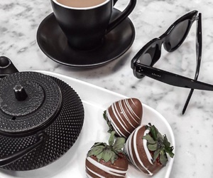 chocolate, coffee, and strawberry image