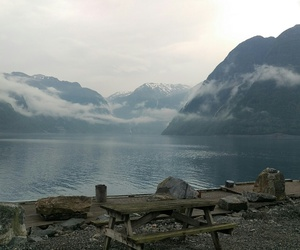 camping, fjord, and mountain image