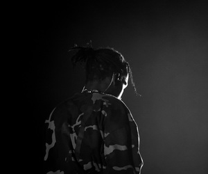 b&w, concert, and asap rocky image