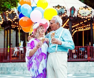 age, baloon, and couple image