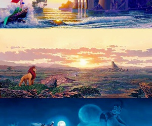 disney, aladdin, and ariel image