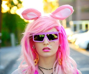 audrey kitching, bunny, and pink image