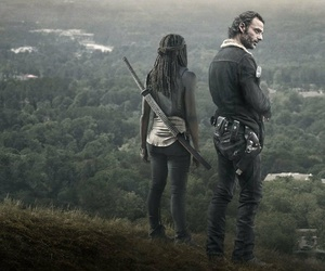the walking dead, rick, and michonne image
