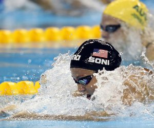 blue, swimming, and usa image