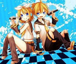 kagamine len, microphone, and vocaloid image