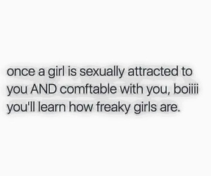 comfortable, attracted, and freaky image