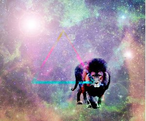 lion, triangle, and universe image