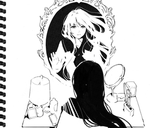 monochrome, anime, and manga image