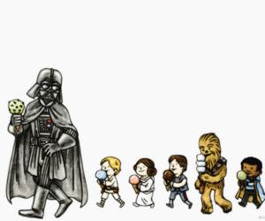 children, luke skywalker, and darth vader image