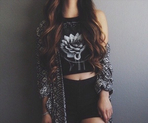black and withe, girl, and hipster image