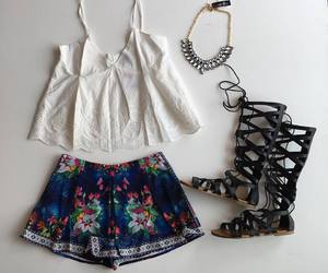 fashion, necklace, and outfit image