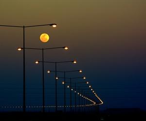night, moon, and light image