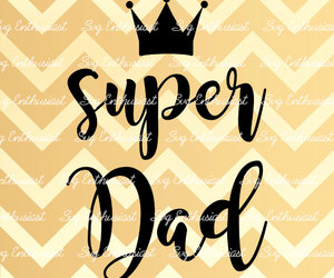 crown, dad, and daddy image