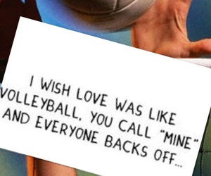 love, volleyball, and mine image