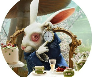 alice in wonderland, rabbit, and alice image