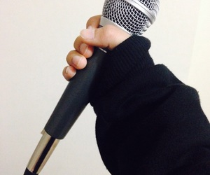 mic, microphone, and music image