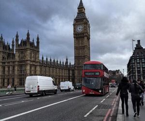 Big Ben, double decker bus, and london image
