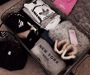 clothes, travel, and adidas image