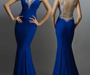 blue, dress, and party image