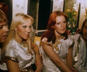 Abba, tour, and in concert backstage image