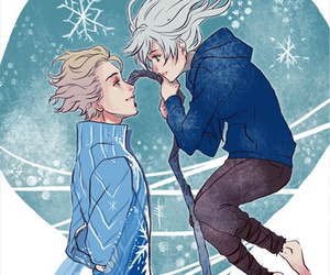 jack frost, frozen, and elsa image