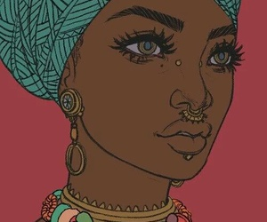 beautiful, black, and turban image