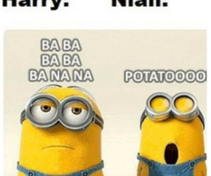 one direction, minions, and niall horan image