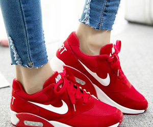 shoes, nike, and red image