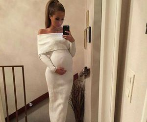 fashion, dress, and pregnant image