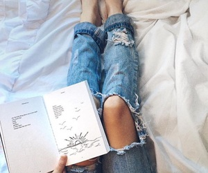 book, denim, and jeans image