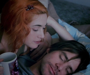 eternal sunshine of the spotless mind, kiss, and couple image