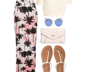 festive, maxi skirt, and Polyvore image