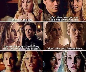 klaroline, caroline forbes, and love image