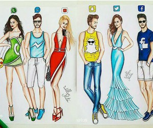 art, whatsapp, and facebook image
