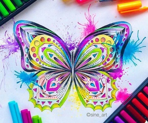 butterfly, colors, and inspiration image
