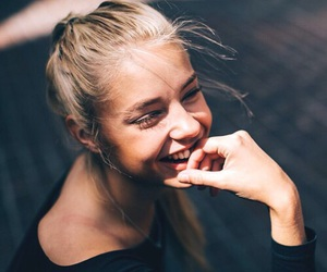 girl, smile, and model image