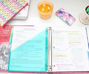 school, book, and notebook image