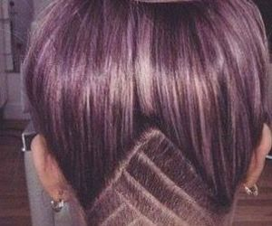 purple, hair, and undercut image