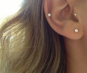 peircings, cartilage, and tragus image