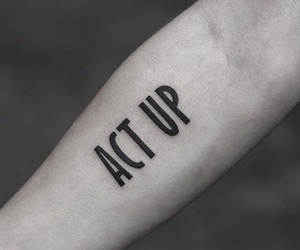 black ink, tattoo, and words image