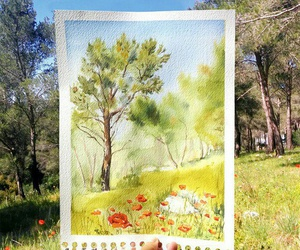 draw and watercolor image